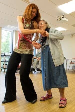 Vicky, 85, in a dance therapy class.