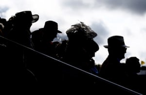 Racegoers watch the action during the British EBF Premier Fillies Handicap Stakes, which was won by Mannaal