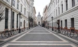 Budapest's normally busy Zrinyi street