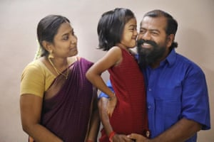 Captain Ayyappan Swaminathan reunited with his wife, Menaka and seven-year-old daughter, Aniya