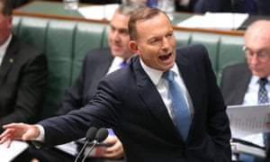 The prime minister Tony Abbott during question time in the house of representatives this afternoon, Wednesday 3rd June 2015.