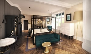 Oddfellows on the Park hotel, bedroom, Manchester
