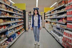 Mladenovac, Serbia: Renata Gajic, supermarket worker.