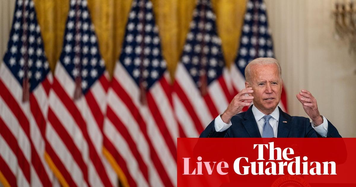 Biden faces mounting criticism as Taliban advances across Afghanistan – US politics live