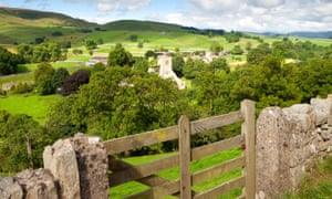 A view of the village of Burnsall in Yorkshire.
