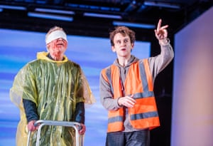 Karl Johnson as Gloucester and Harry Melling as Edgar. This is director Deborah Warner's third staging of the tragedy