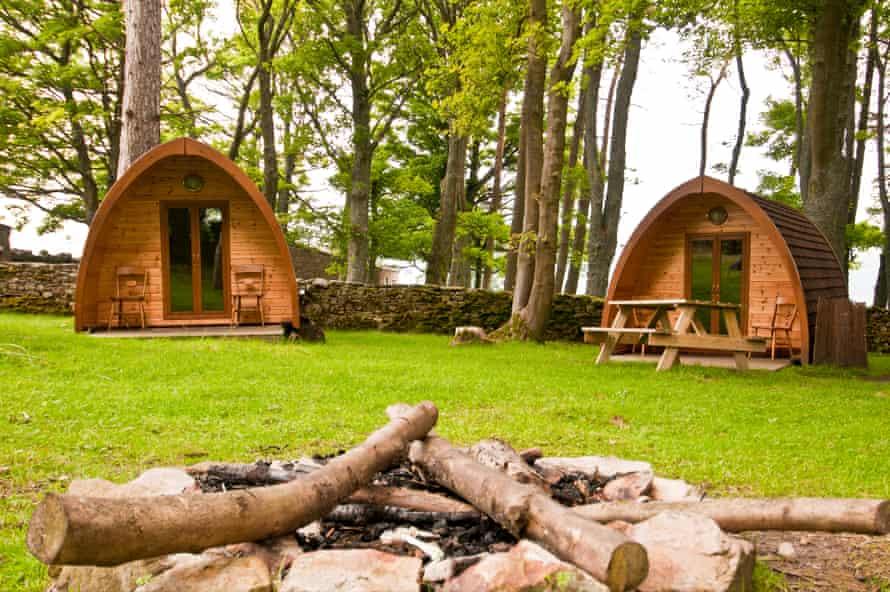 Camping pods at Grinton Lodge.