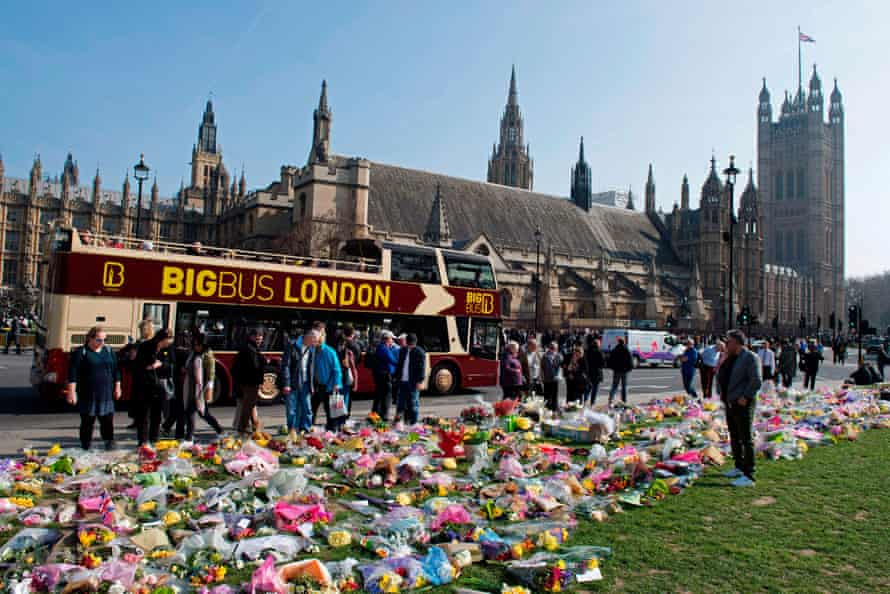 As he walked to catch the bus home, Rhodes was struck by the car driven by Khalid Masood.