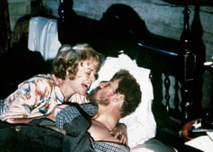 Giggles … Janet Suzman and McKellen in Priest of Love.