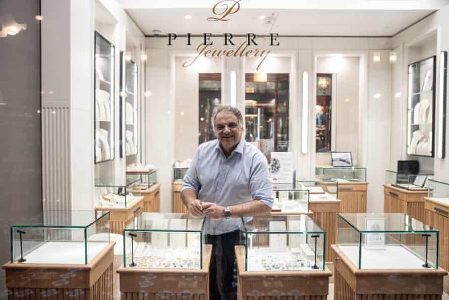 Pierre Germani of Pierre Jewellery in Sydney's CBD.