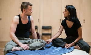 Thomas Magnussen and Lena Kaur in rehearsals for The Earthworks.