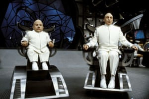 With Mike Myers in Austin Powers: Goldmember