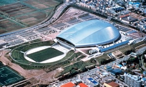 The Sapporo Dome will host England v Tonga in the World Cup. It has a roof but the city was hit by an earthquake in 2018.