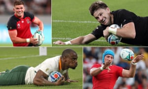 England's Owen Farrell will come face to face with Beauden Barrett of New Zealand on Saturday; South Africa's Makazole Mapimpi will have to get past Justin Tipuric of Wales on Sunday