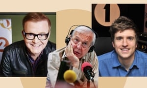 On the airwaves … BBC big hitters Chris Evans (Radio 2), John Humphrys (R4's Today) and Greg James (R1's new breakfast host).
