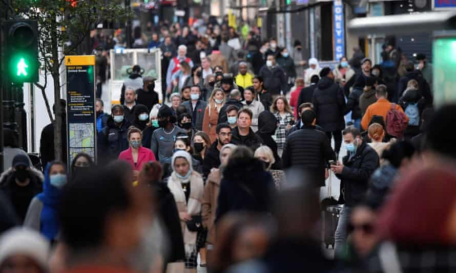 Shoppers in Oxford Street, London, last Monday