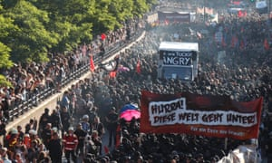 'Welcome to Hell' street protest