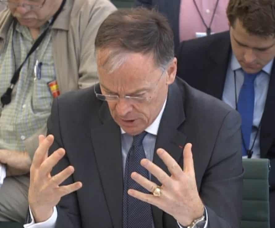 EDF chief executive, Vincent de Rivaz, appears before the energy and climate change committee to answer questions over the delay in making a final investment decision on the multibillion-pound Hinkley Point nuclear power project.