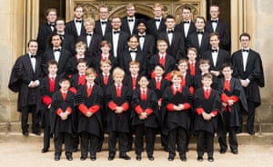 The choir of St John's College, Cambridge.