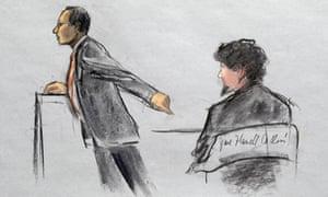 dzhokhar tsarnaev courtroom sketch