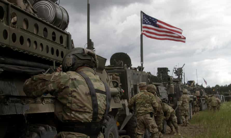 US soldiers take part in a Nato exercise in Latvia.