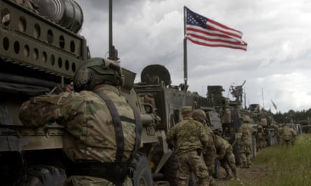 US soldiers take part in exercises in Latvia.