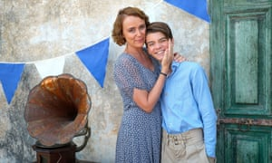 Milo Parker as 'Gerry' Durrell, with Keeley Hawes
