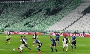 Juventus and Internazionale played their game behind closed doors in Turin on 8 March but since then Serie A has been suspended with 12 rounds of fixtures remaining.