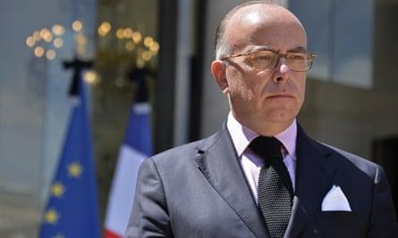 The French interior minister, Bernard Cazeneuve