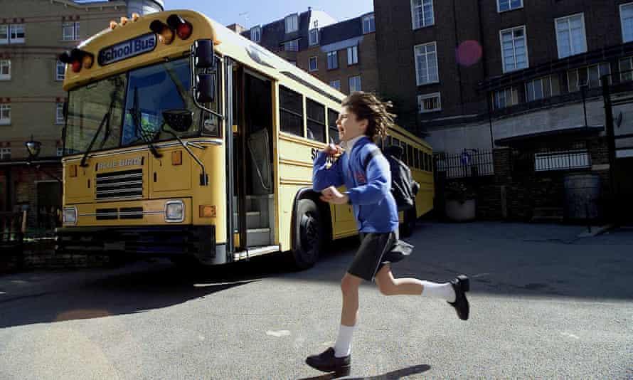 An American-style yellow school bus