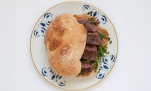 Nuno Mendes' moreish beef prego.