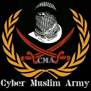 Facebook image from the Muslim Cyber Army.