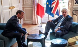 Emmanuel Macron tells Boris Johnson any new Brexit deal would have to be very similar to existing one – live