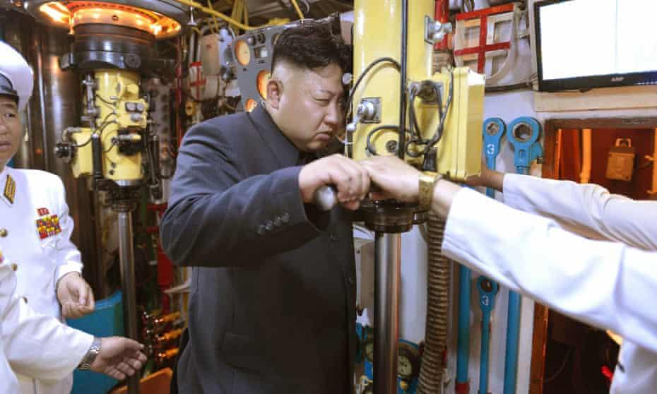 Kim Jong Un on submarine