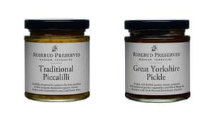 Pickles and preserves, around £3.40 eachBoxed gift set of three around £13rosebudpreserves.co.uk