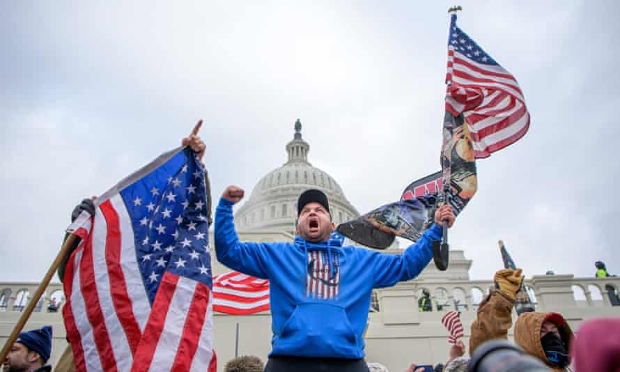 Trump supporters storm the US Capitol.