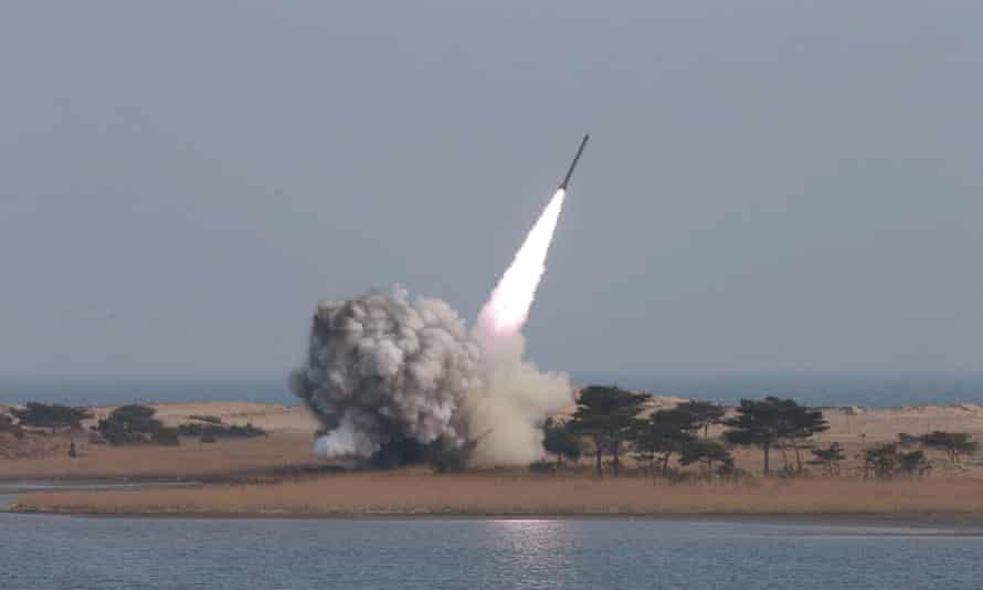 Rocket launch, North Korea