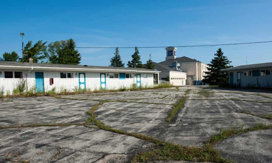 An abandoned motel in Sheboygan, Wisconsin.