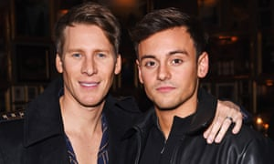 Tom Daley, right, and Dustin Lance Black, who have released their news on Valentine's Day.