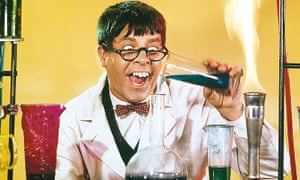Jerry Lewis in The Nutty Professor, 1963, a reworking of the Dr Jekyll and Mr Hyde story.