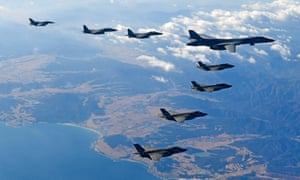 US and South Korean warplanes fly over the Korean Peninsula during the Vigilant air combat exercise on Wednesday.