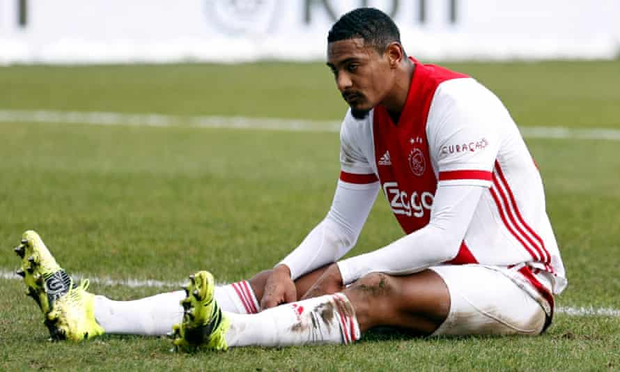 Sébastien Haller, seen here during Ajax's game against Fortuna Sittard last month, joined from West Ham for £20m.