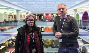 Project Cape's Leena Haque and Sean Gilroy ... the BBC project explores the opportunities of neurodiversity in the workplace.