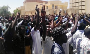 Sudanese protesters gather in Khartoum on the second day of demonstrations