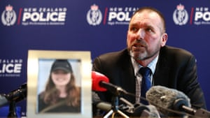 Detective Inspector Scott Beard speaks to the media while investigating the disappearance of Grace Millane.