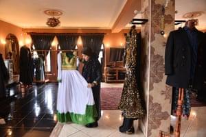 Rahiba Rahimi, founder and lead designer of Laman, a fashion brand based in Kabul