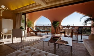Es Saadi riad, Marrakech, stands in for Cairo's Nefertiti Hotel.