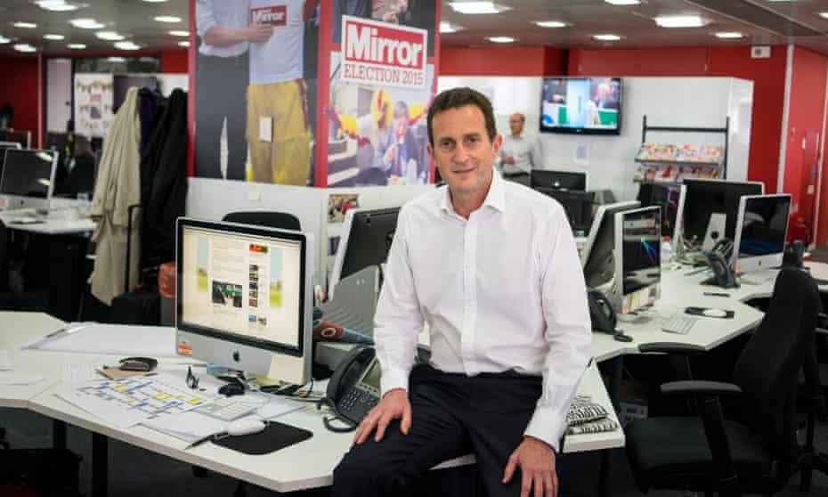 Simon Fox, Trinity Mirror's chief executive, in the Daily Mirror newsroom last year.