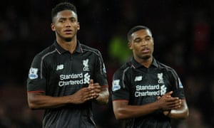 Jordon Ibe, right, is joined by his Liverpool team-mate Joe Gomez in Gareth Southgate's England Under-21s squad for the forthcoming games against the United States and Norway.