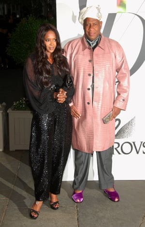Talley with Naomi Campbell in 2008